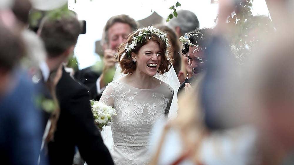 Wedding Dresses Under 150$ Inspirational Rose Leslie Wears Vintage Style Elie Saab Dress for Wedding