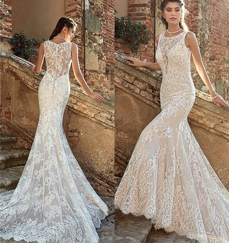 Wedding Dresses Under 200 Dollars Inspirational 2019 Summer Mermaid Wedding Dresses Backless Full Lace Court Train Beach Bridal Gowns formal Dresses for Bohemian Wedding Gowns Custom Made Dresses