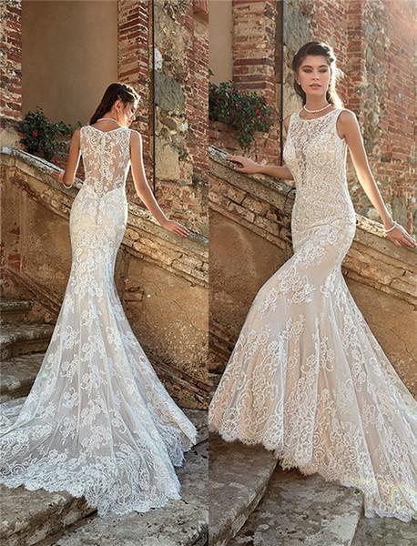 Wedding Dresses Under 200 Dollars Inspirational 2019 Summer Mermaid Wedding Dresses Backless Full Lace Court Train Beach Bridal Gowns formal Dresses for Bohemian Wedding Gowns Custom Made Dresses
