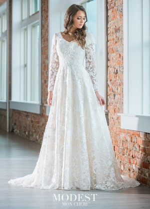 modest bridal by mon cheri tr lace bridal gown 01 681