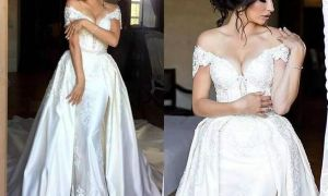23 Awesome Wedding Dresses with Detachable Skirts