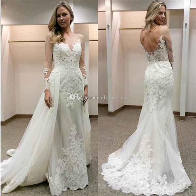 new designer white wedding dresses with detachable