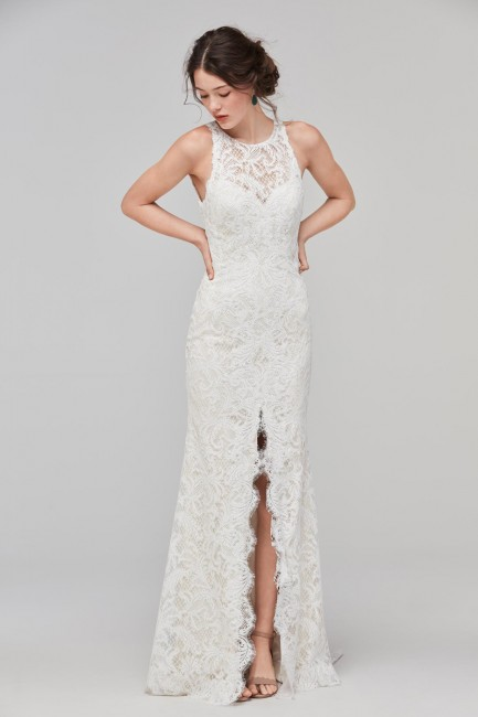 Wedding Dresses with Slits In the Front New Willowby Adia High Neck Wedding Dress