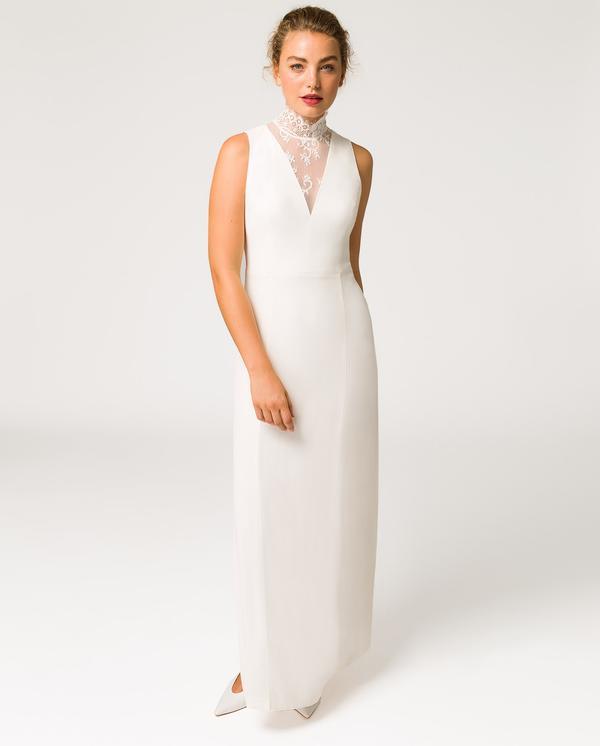 halter neck wedding dress luxury bridal ivy and oak