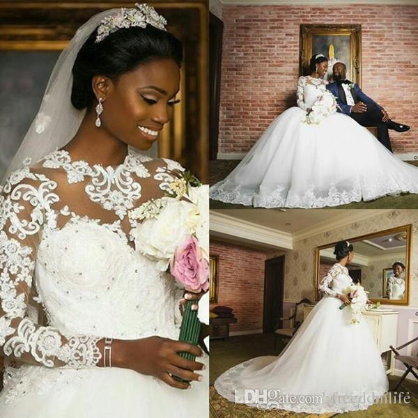 2018 african ball gown country wedding dresses