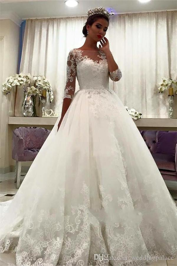 3 4 sleeve wedding dress inspirational hot scoop neck 3 4 sleeve ball gown wedding dresses lace up back