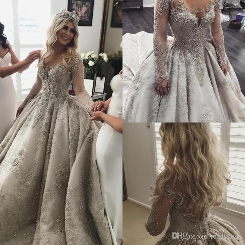 pics of vintage wedding dresses lovely discount long sleeves lace ball gown wedding dresses rhinestone