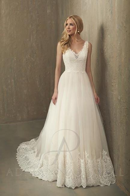 adrianna papell paisley wedding dress 01 163
