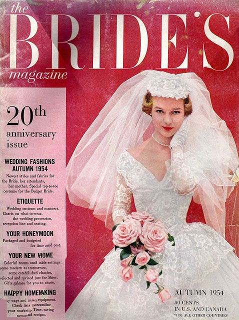 Wedding Magazine Elegant the Bride S Magazine Autumn 1954
