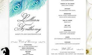 25 Lovely Wedding Programs Cheap