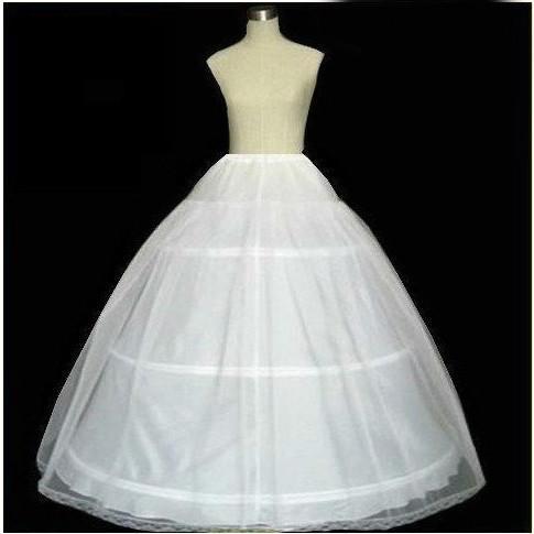 Wedding Slip Fresh 3 Hoop Ball Gown Bone Full Crinoline Petticoats for Wedding Dress Wedding Skirt Accessories Slip Maternity Petticoat Net Underskirt Petticoat From