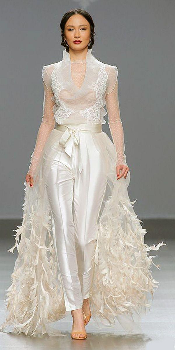 Wedding Suits for Brides Elegant Trend 2019 27 Wedding Pantsuit & Jumpsuit Ideas