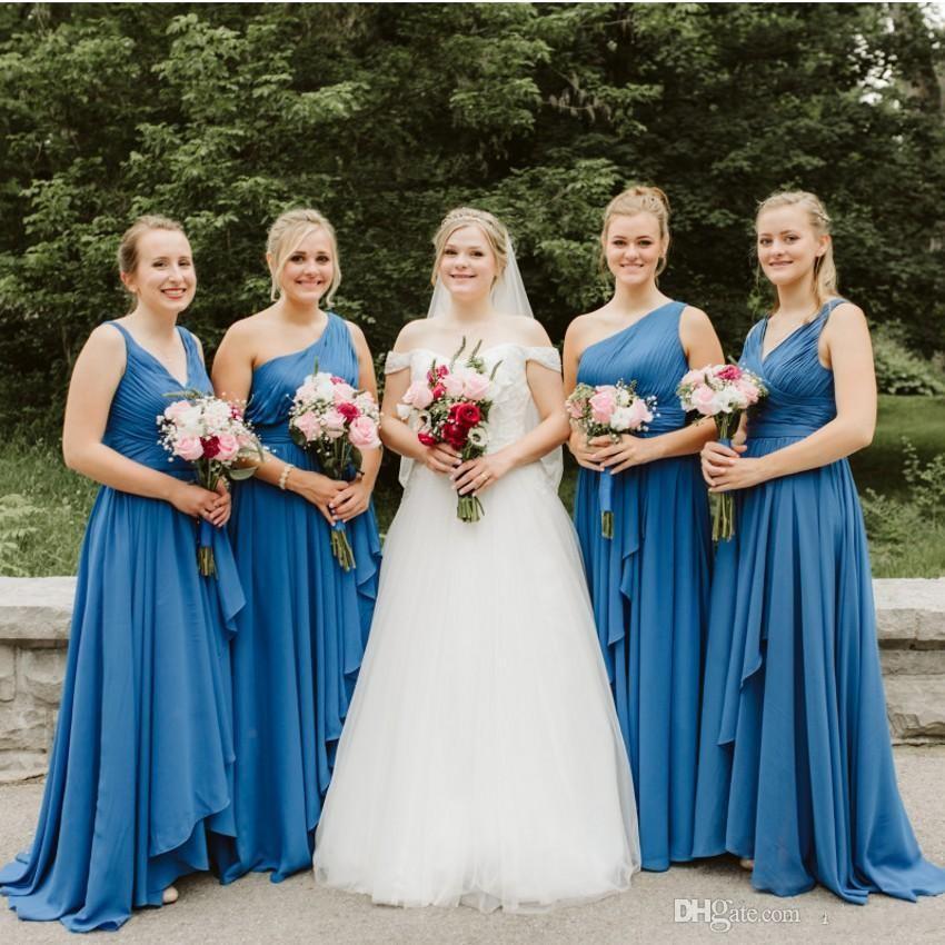 western country chiffon cheap bridesmaid