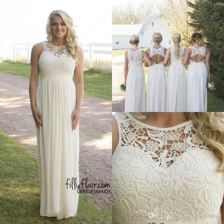 hot sale cheap country style bridesmaid dresses