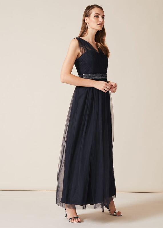 01 romy tulle maxi dress