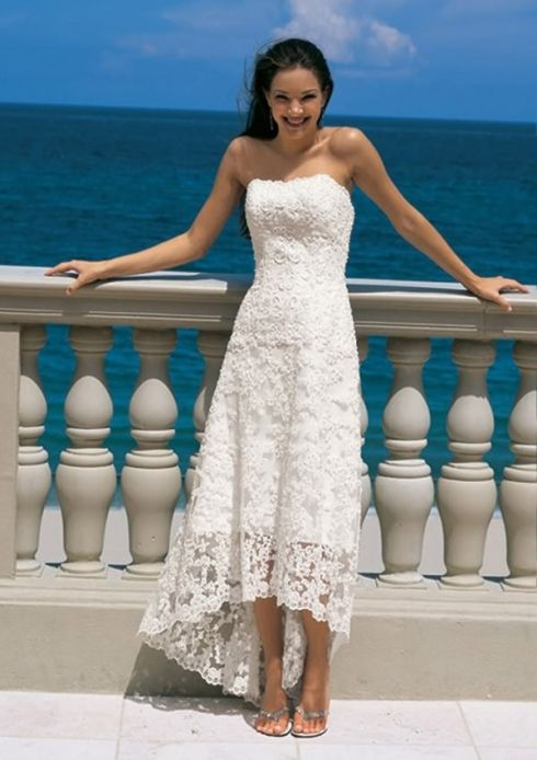 White Beach Wedding Dresses Casual Unique Informal Beach Wedding Dress S