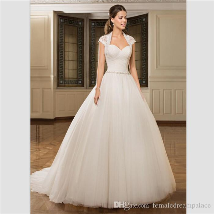 vestido de noiva beads sweetheart ball gown