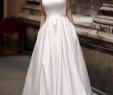 White Dress Cheap Luxury Scoop Simple Satin Elegant Cheap Wedding Dresses Line
