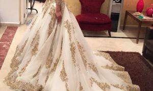 23 Elegant White Gold Wedding Gown