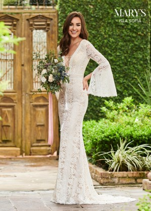 marys bridal mb5014 bell sleeve wedding gown 01 677