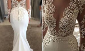 26 New White Mermaid Gown
