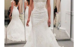 26 Unique White Mermaid Wedding Dresses