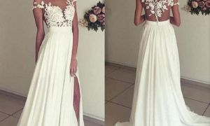 24 Luxury White or Ivory Wedding Dress