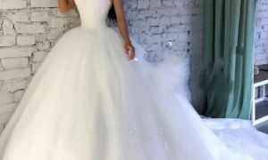 28 Unique White Sequin Wedding Dresses