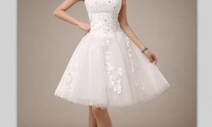 20 Lovely White Short Wedding Dresses Cheap