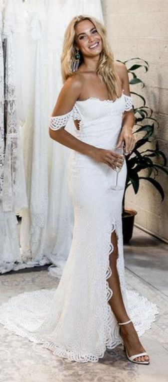 White Sundress Wedding Awesome Country White Mermaid Wedding Dresses for Bride Off the