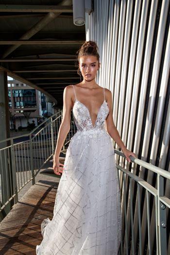 White Sundress Wedding Lovely דימיטריוס דליה שמלות כלה Dimitrius Dalia טלפון 072