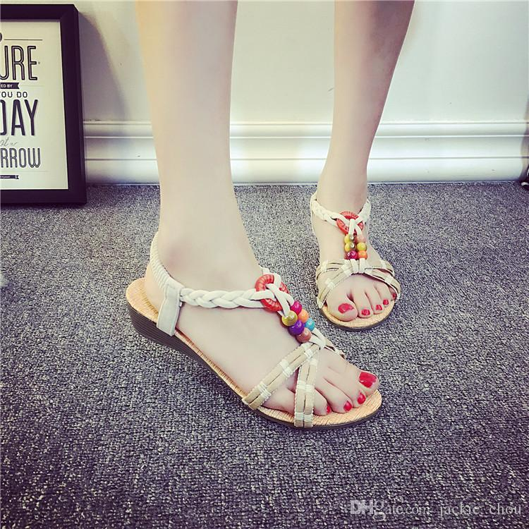 2017 summer bohemia fashion women flip flops