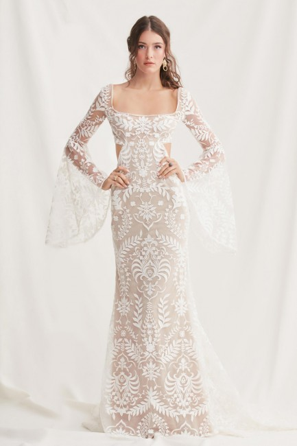 willowby arlo bell sleeve wedding dress 01 616