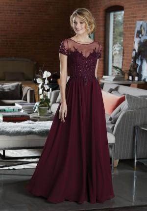 mori lee short sleeve bridesmaid dress 01 422