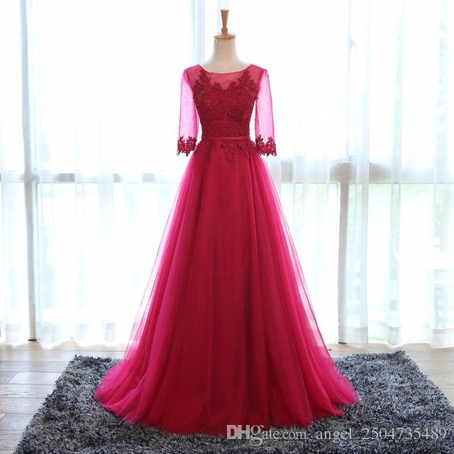 robe de soiree elegant wine colored evening