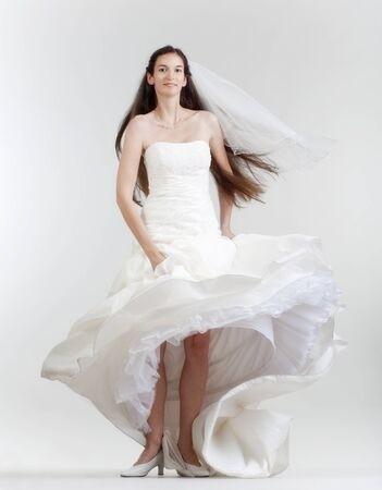 Winter Dresses to Wear to A Wedding Beautiful Portrait Od A Bride with Long Dark Hair In Wedding Dress