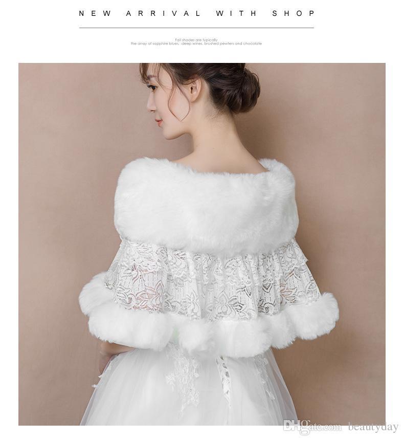 2018 winter wedding coat bridal faux fur